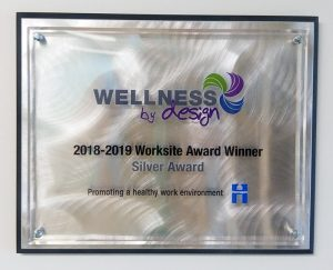 wellness award plaque