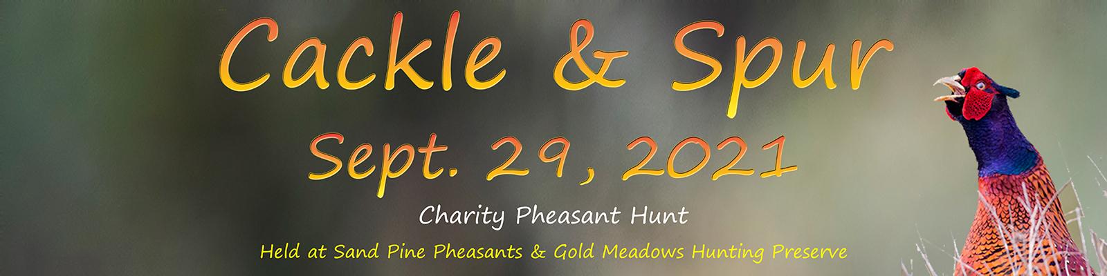Cackle & Spur event September 29th