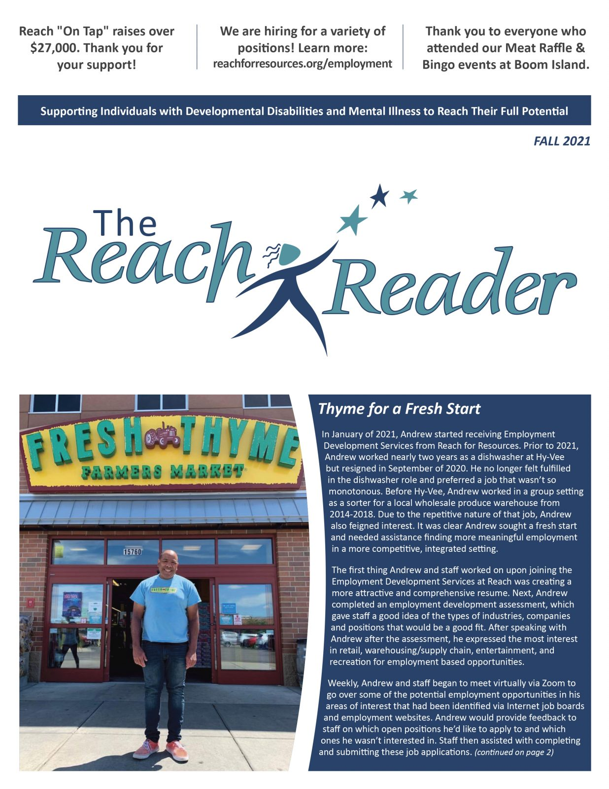 Cover of the Fall Reach Reader