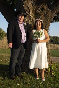 Calli & James on their wedding day.